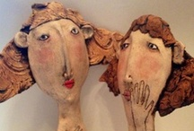 ART ☰ Sarah Saunders / Sarah is a people watcher and she loves observing people language. Her work is light hearted and humorous. She is an english figurative ceramist.