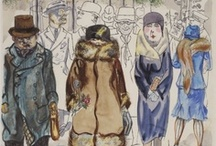 ART ☰ Grosz & Dix / George Grosz (July 26, 1893 – July 6, 1959) was a German artist known especially for his savagely caricatural drawings of Berlin life in the 1920s.   Otto Dix  (2 December 1891 – 25 July 1969) was a German painter and printmaker, noted for his ruthless and harshly realistic depictions of Weimar society and the brutality of war. Along with George Grosz, he is widely considered one of the most important artists of the Neue Sachlichkeit.