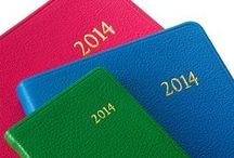 2014 Datebooks / All our calendars, planners, & agendas are beautifully bound in European leather, time honored of fine bookbinding.