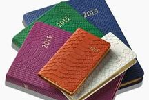2015 Datebooks / All our calendars, planners, & agendas are beautifully bound in European leather, time honored of fine bookbinding.