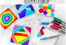Kids Crafts / Cool and easy crafts for kids kids can do. Preschool crafts, elementary crafts, crafts for toddlers, educational crafts for kids, and as many fun kid crafts as you can ever want!