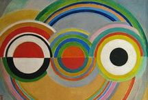 ART ☰ Sonia Delauney / Sonia Delaunay (1885-1979) - Jewish-French artist who, with her husband Robert Delaunay and others, cofounded the Orphism art movement, noted for its use of strong colours and geometric shapes.  / by Anna Mancini