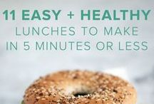 Food | Easy Work Meals / Healthy food, easy lunch recipes, healthy recipes for a busy lifestyle, easy work meals.