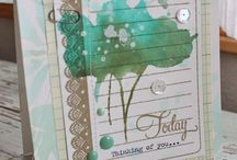 Card Ideas / Handmade greeting card obsession. Rubber stamping mixed with scrapbook paper to create beautiful one of a kind cards.