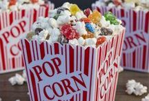Movie Night  (Popcorn and Munchies) / Fun board of more varieties of popcorn than I knew existed; including many other munchies. Enjoy the collection and have some family fun.