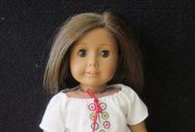 """American Girl Craftiness / Amazing DIY ideas for American Girl dolls and other 18"""" dolls. All pins have been checked for accurate links and most are free printable clothing patterns for sewing. Storage and doll house ideas too."""