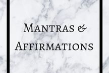 Affirmations / Mantras & affirmations for inspiration and motivation. Motivate, inspire. Motivational inspiring. Words.