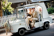 Wedding Carriage / Need a personalized vehicle for your big day? Drive off into the sunset on your personalized Club Car.  Find out more at clubcar.com