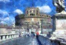 Foto e dipinti / Fotografie e trasformazione in dipinti e grafica