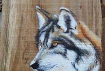 Eigen werk / schilderijen op doek en  hout. Alles eigen werk, er is al veel verkocht, maar wie wat wil kopen mag altijd even mailen.