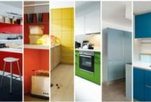 Colourful Schüller Kitchens / For those who like bright colours, Schüller offer almost an unlimited choice of coloured kitchen cabinets, with a range of 28 colours to choose from