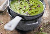 Wild garlic, nettles, herbs, spinach, greens