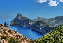 Mallorca / Mallorca is one of the Balearic Islands in the Mediterranean, known for its beach resorts and sheltered coves, limestone mountains and Roman and Moorish remains.