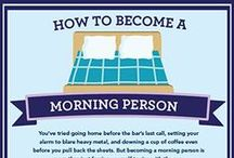 Productive Mornings / Even though coffee helps, check out these other tips to help you have a productive morning!