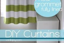 How to make : Curtains / Ever wanted to know how to make your own curtains? We've searched for some of our favourite how to guides on pinterest and put them all in here.