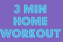 Best Quick 3-5 min home workouts / All you need is 3-5 min of your time with no equipment needed. Great for workouts for traveling or during commercial breaks