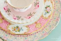 Porcelain / bone china, fine china, porcelain, tea cups and saucers, teapots, plates, cake plates and stands, pitchers, coffee cups and pots, vases and so on   glass cups and other glass and ceramic items / by Freya (NO PIN LIMITS)