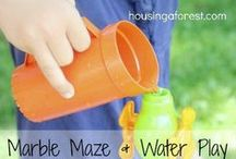 Water Play / Ideas for fun with water play for kids of all ages
