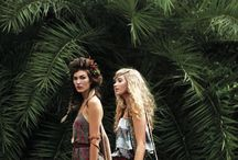 Fashion with foliage / Clothes to wear in the sun