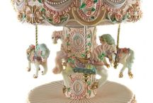 Snowglobes, Carousels, Music Boxes, Trinket Boxes and Faberge Eggs
