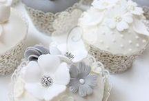 INSPIR - Svadobné cupcakes / Inšpirácie na zdobenie svadobných cupcakes