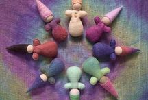 Craft: Gnomes, fairies & friends: needle felt / +