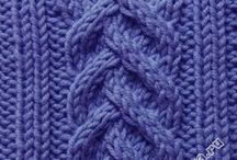 Agujas: trenzas u ochos / cable stitch
