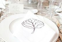 Table setting ideas / Table settings that I can try @home, for setting wedding tables and so on / by Nadine Banzuzi