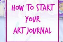 Art Journaling Ideas / This board is dedicated to art journaling ideas, art journaling techniques, and art journaling inspiration. There is some amazing work out there, I'm thrilled to be able to collect it here.