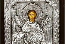 Silver Greek Orthodox icons / Silver Greek Orthodox Icons handmade by Greek hagiographers. Exact reproductions of antique masterpieces made using traditional materials, 950o silver and old techniques.  All the icons bear the certificate of authenticity.