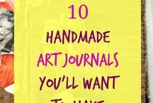 How to Make Your Own Art Journal / Books made by hand are amazing.