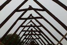 Old Buildings, construction and art / Kunstzinnige foto's van de verbouwing van Den Kaat