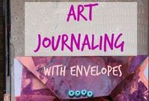Altered Books: How to Create an Altered Book / Make an old book into your art journal by painting and drawing over the pages, cutting windows and doors, and pasting in photo transfers.