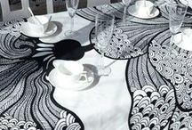 Dining Room / #Dining room #Linen #furniture #bespoke #table #tablecloth #napkin #kitchentable #retro #vintage #artdeco