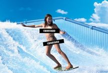 Surfing Simulators / Pictures of surfing simulators, including the ever-popular Flowrider.