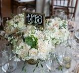 Wedding Guest Table Numbers / Ideas for numbering and naming your wedding tables!