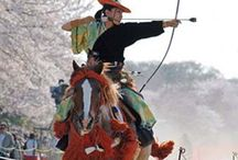 Horse Archery (Yabusame) , Festival / 流鏑馬 Japanese traditional horse-back archery