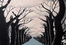 Ray Morimura / Hanga (版画) Wood Brock Print
