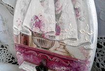 ντεκουπαζ και ζωγραφιστη δαντελλα