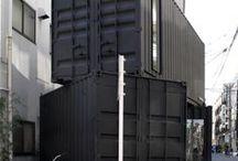 주택설계 / 컨테이너 하우징 연립주택  경사지주택 일반주택