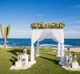 Wedding Ceremony / A selection of our past ceremony décor in Cabo to give you some inspiration for your upcoming destination wedding!