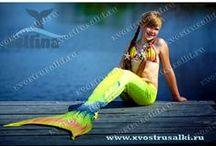 Хвост русалки Королева Моря с сайта xvostrusalki.ru цвет Tropikana Lime / Очень красивый хвост русалки в салатовом цвете с плавниками и чешуей, который смотрится совсем как настоящий силиконовый хвост русалки