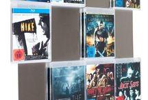 Blu-ray Wandregale Storage / BluRay Filmcover Storage, Blu-ray Filme artgerecht halten, cds aufbewahren