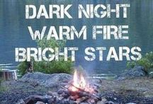 A Campfire Kind of Night / Grab your blanket, guitar, hot chocolate, smores supplies and head out under the stars