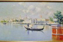 Venecia, Italia. / Eliseo Meifrén Roig. Pinturas al óleo de Venecia, Italia.