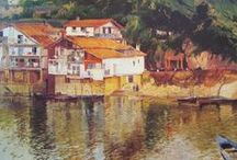 Guipuzcoa. / Eliseo Meifrén Roig. Pinturas al óleo de Guipuzcoa.