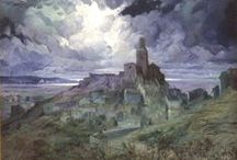 Cadaqués, Nocturnos. / Eliseo Meifrén Roig. Pinturas al óleo nocturnas de Cadaqués.
