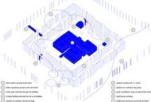 architectural axonometry / drawings describing architectural concepts