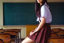 school uniform/female/photo / Character design and Drawing reference