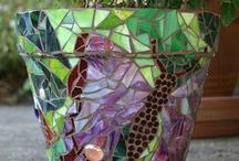 Trädgårds mosaik mm